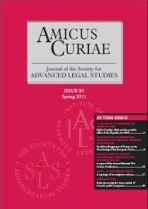 Amicus Curiae Issue 85 cover