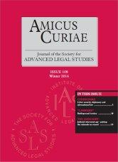 Amicus Curiae Issue 108 cover