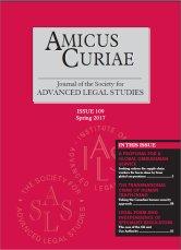 Amicus Curiae Issue 109 cover