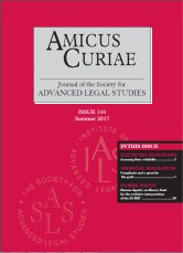 Amicus Curiae Issue 110 cover
