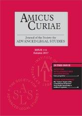 Amicus Curiae Issue 111 cover