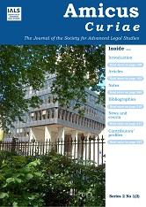 Amicus Curiae Vol 1 No 2 (2020): Series 2 cover