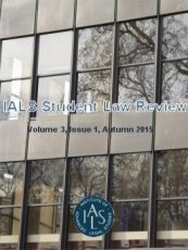 IALS Student Law Review Vol 3 Issue 1 Cover