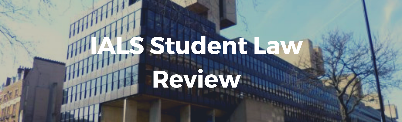 IALS Student Law Review cover image