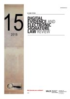 Digital Evidence and Electronic Signature Law Review Volume 15 : 2018 cover
